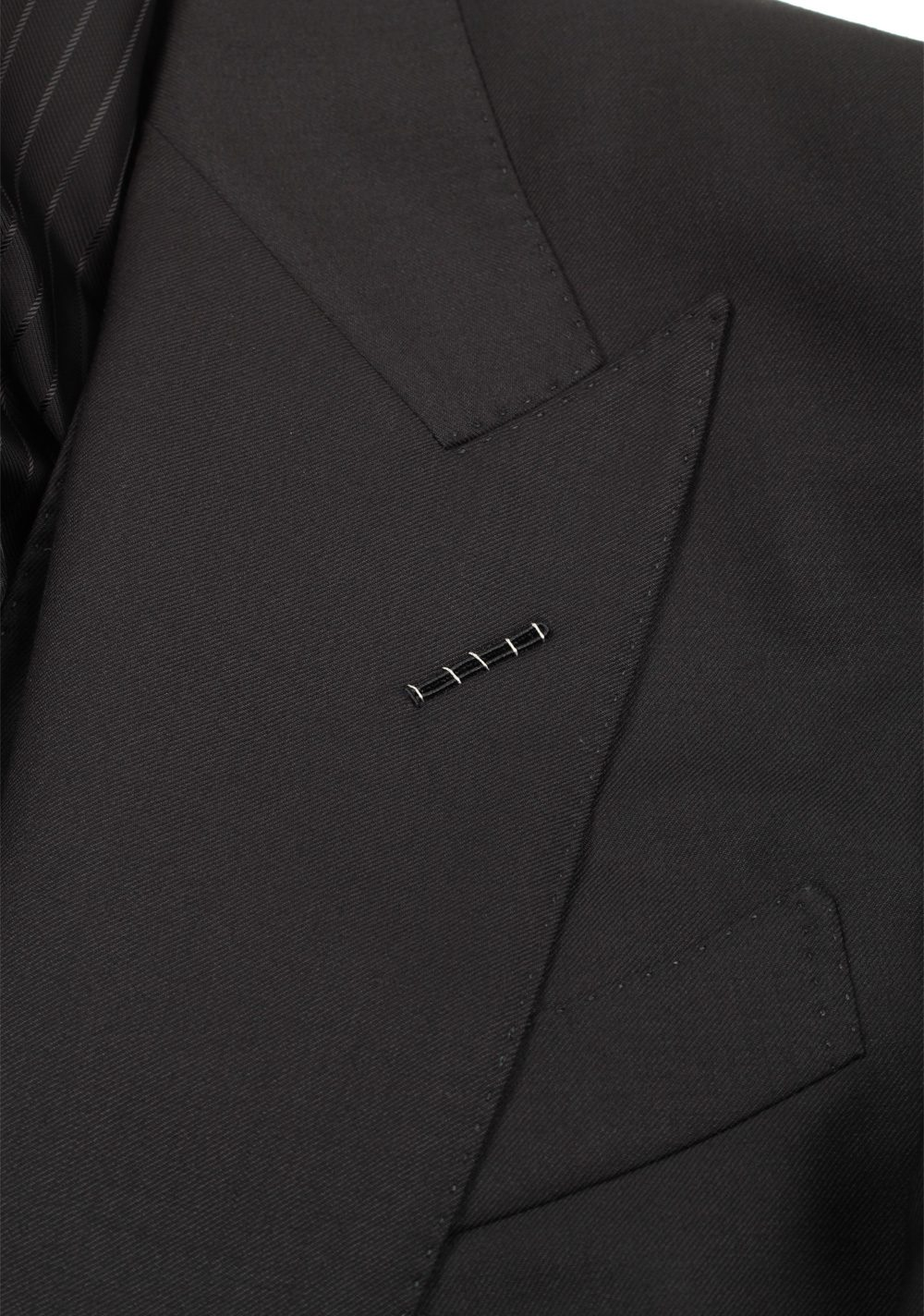 TOM FORD Windsor Black 3 Piece Suit Size 50 / 40R U.S. Wool | Costume Limité