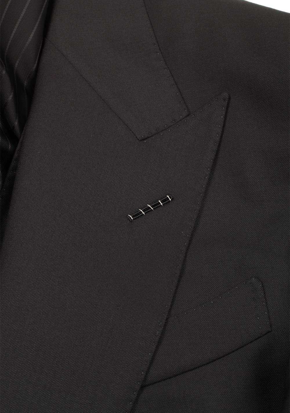 TOM FORD Windsor Black 3 Piece Suit Size 52 / 42R U.S. Wool | Costume Limité