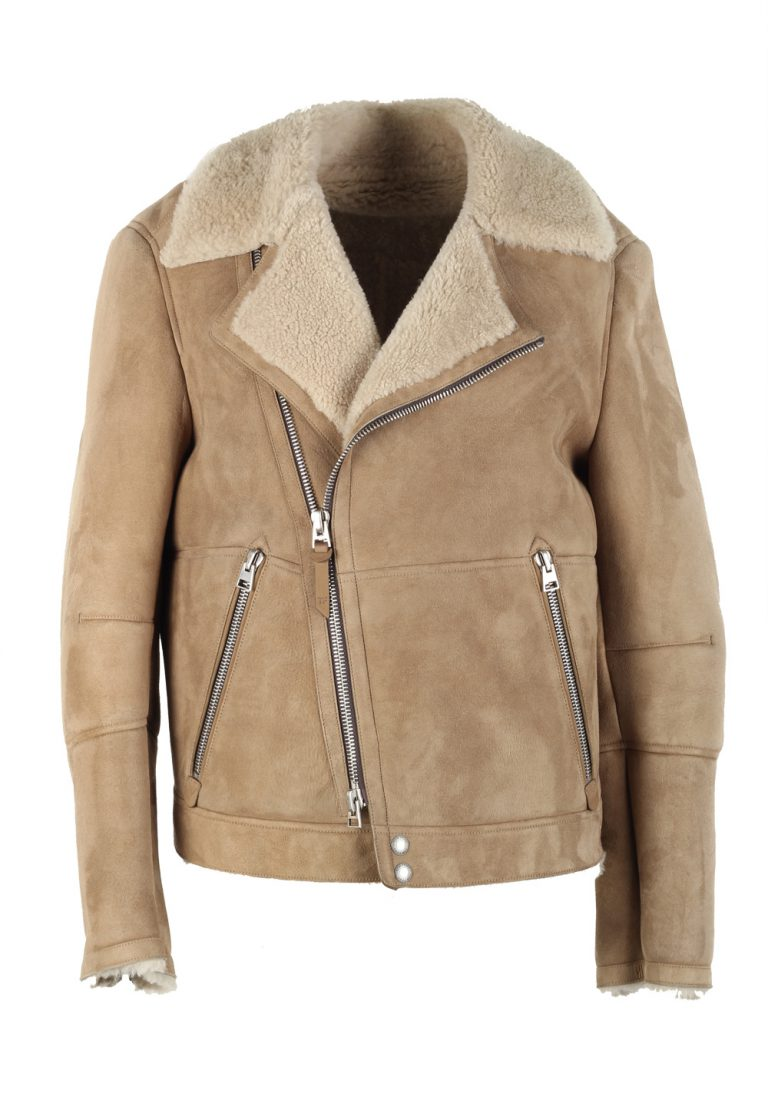 TOM FORD Sand Leather Suede Shearling Jacket Coat Size 48 / 38R U.S. Outerwear - thumbnail | Costume Limité
