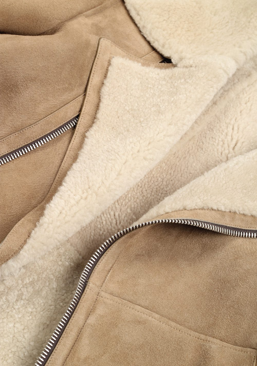 TOM FORD Sand Leather Suede Shearling Jacket Coat Size 48 / 38R U.S. Outerwear | Costume Limité