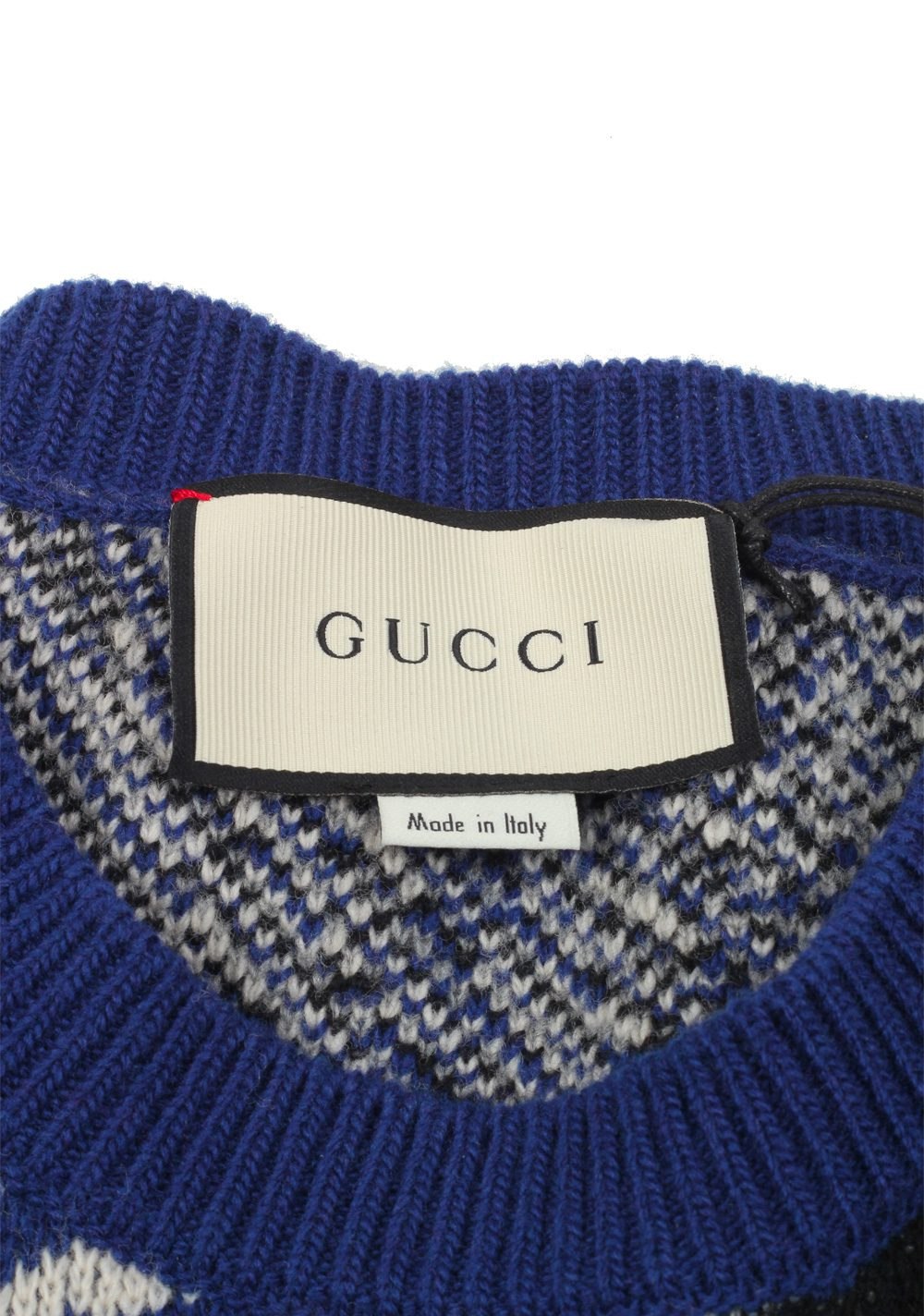 Gucci Blue Crew Neck Wolf Guccy Sweater Shirt Size L / 40R U.S. | Costume Limité