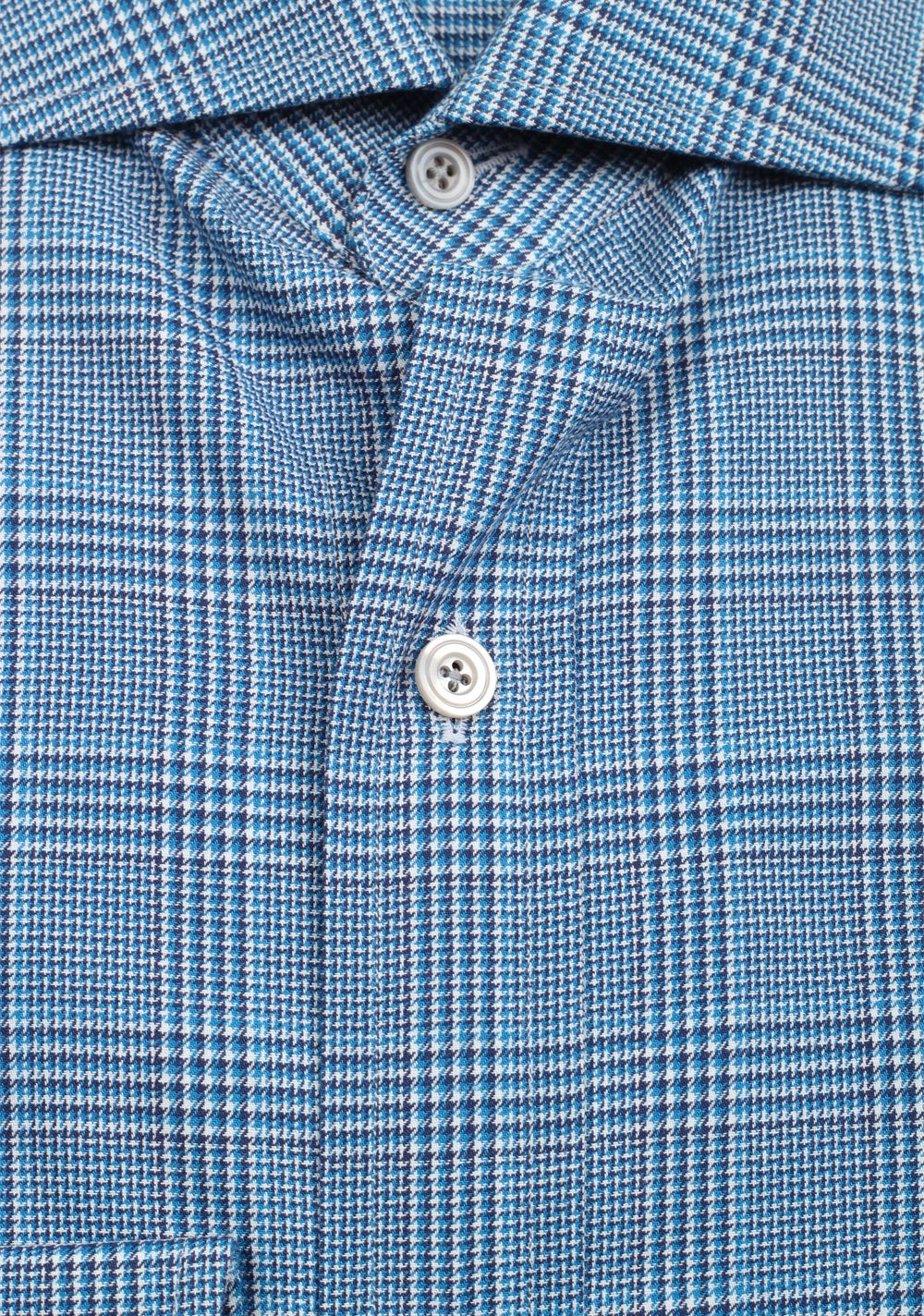 TOM FORD Checked White Blue Shirt Size 41 / 16 U.S. | Costume Limité