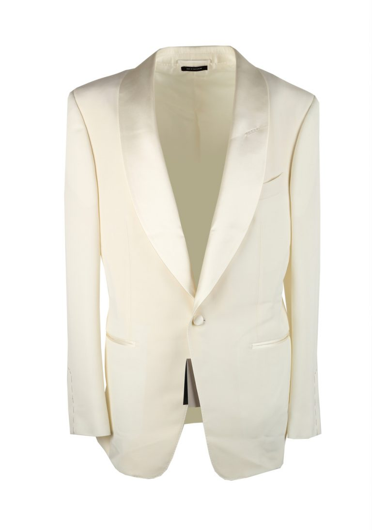 TOM FORD Windsor Ivory Signature Tuxedo Dinner Jacket Size 50 / 40R U.S. Fit A - thumbnail | Costume Limité