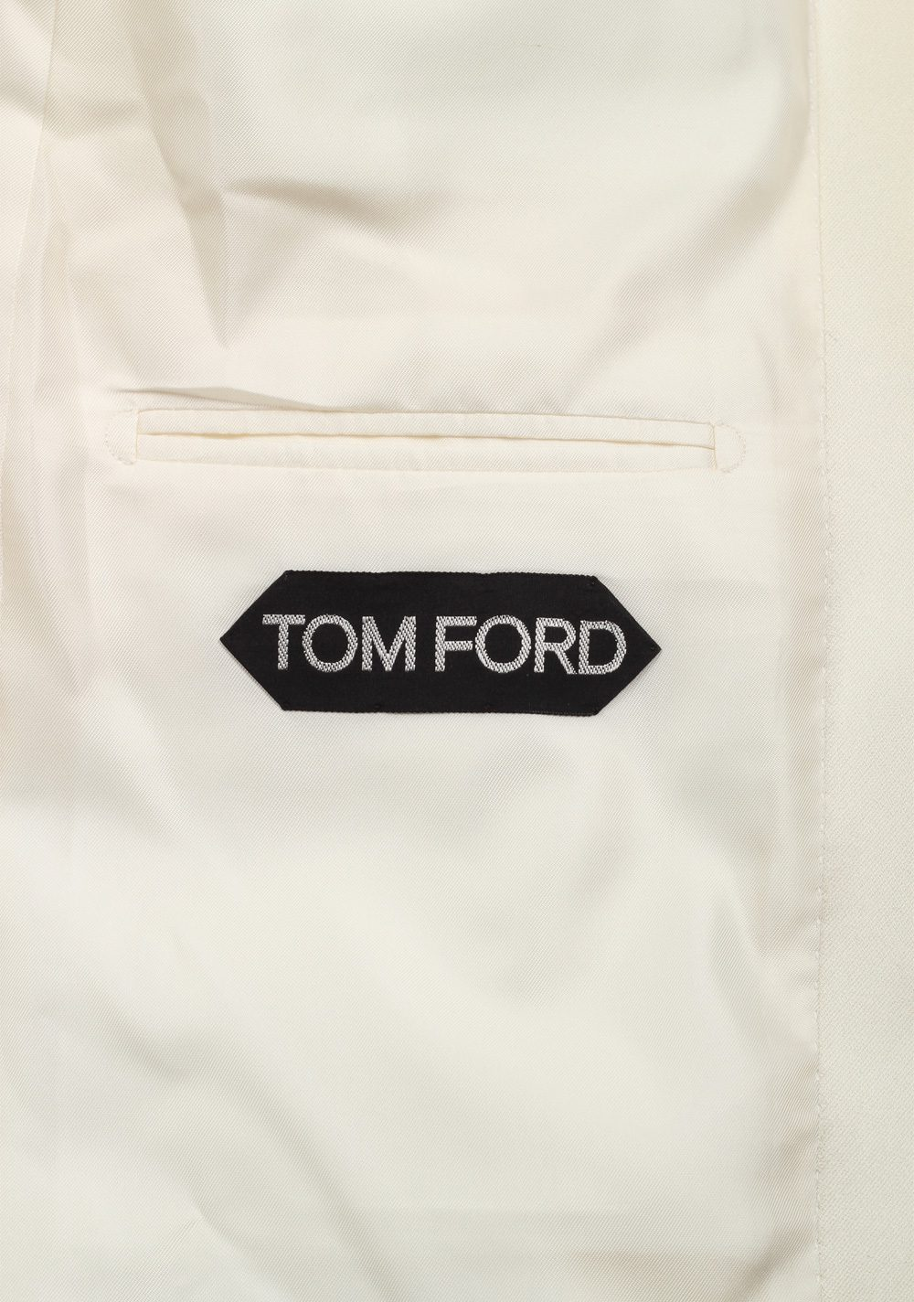 TOM FORD Windsor Ivory Signature Tuxedo Dinner Jacket Size 50 / 40R U.S. Fit A | Costume Limité