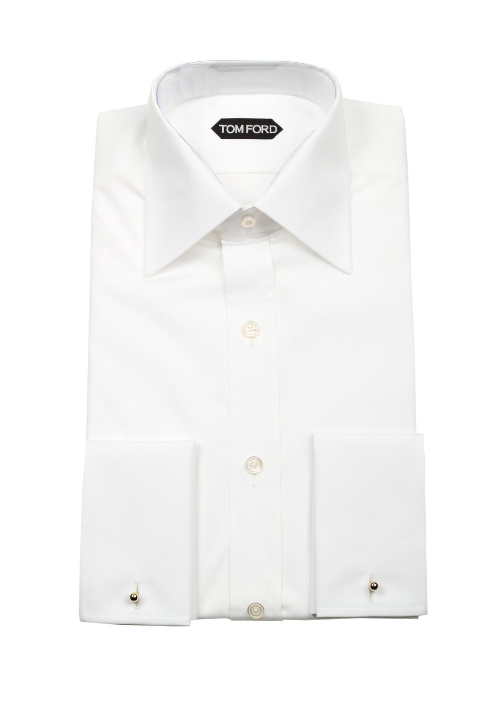 TOM FORD Solid White Signature Shirt With French Cuffs | Costume Limité