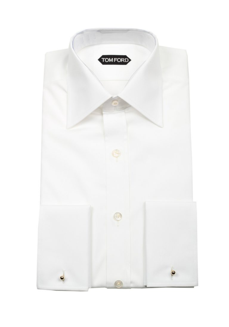 TOM FORD Solid White Signature Shirt With French Cuffs - thumbnail | Costume Limité