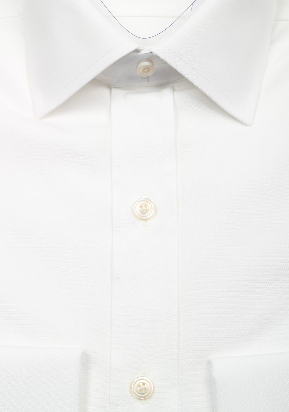TOM FORD Solid White Dress Spread Shirt French Cuffs Size 38 / 15 U.S. Slim Fit   Costume Limité