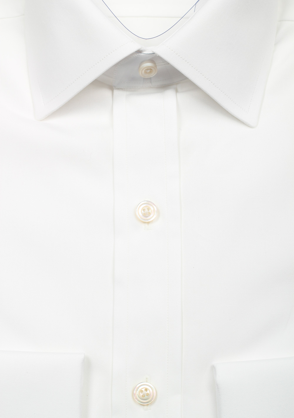 TOM FORD Solid White Dress Spread Shirt French Cuffs Size 38 / 15 U.S. Slim Fit | Costume Limité