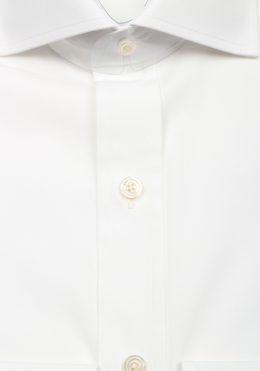 TOM FORD Solid White Dress Spread Shirt Barrel Cuffs Size 38 / 15 U.S. Slim Fit | Costume Limité