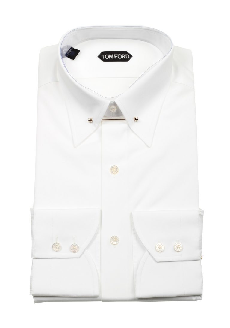 TOM FORD Solid White Signature Poplin Slim Fit - thumbnail | Costume Limité