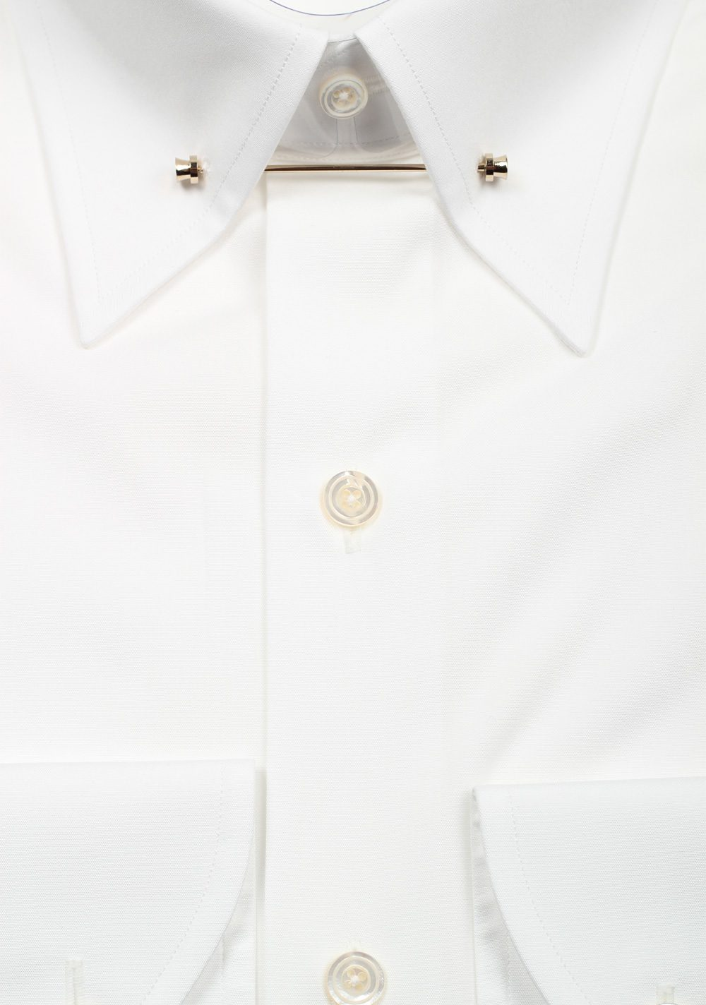 TOM FORD Solid White Signature Poplin Slim Fit | Costume Limité