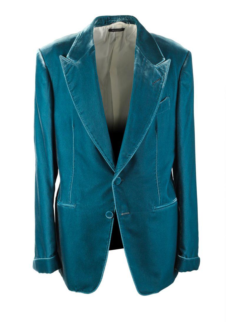 TOM FORD Shelton Velvet Teal Sport Coat Size Size 50 / 40R U.S. - thumbnail | Costume Limité