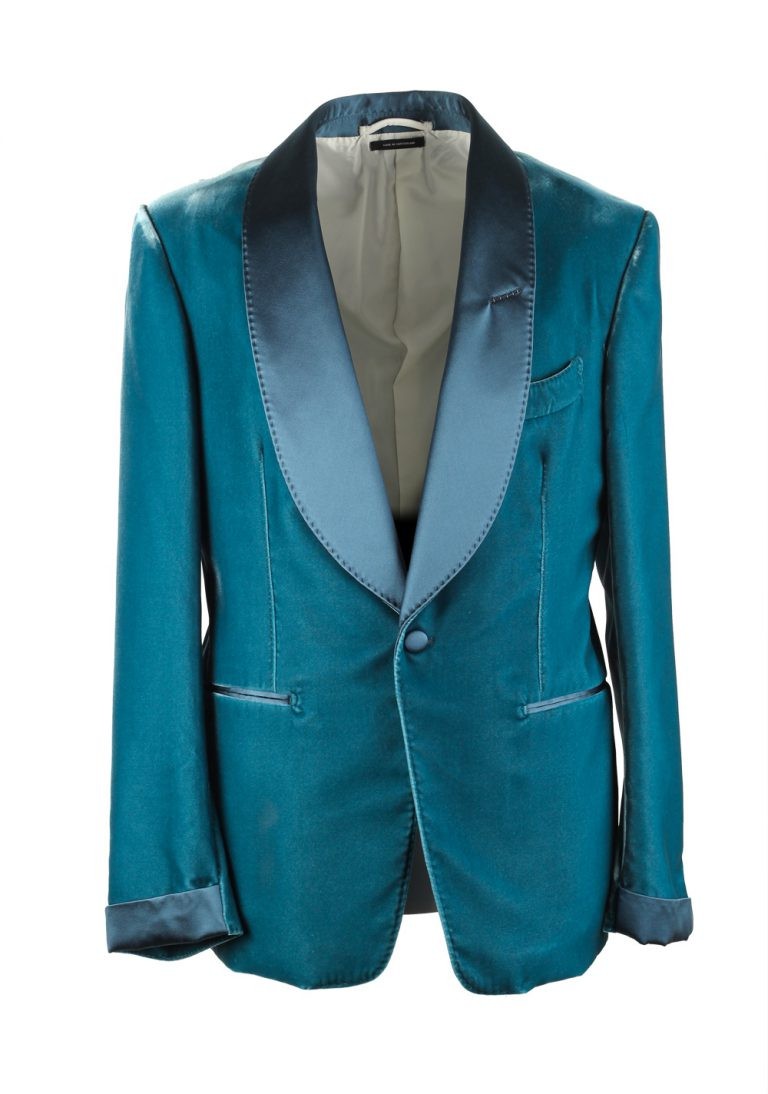 TOM FORD Shelton Velvet Teal  Sport Coat Tuxedo Dinner Jacket Size 48C / 38S U.S. - thumbnail | Costume Limité