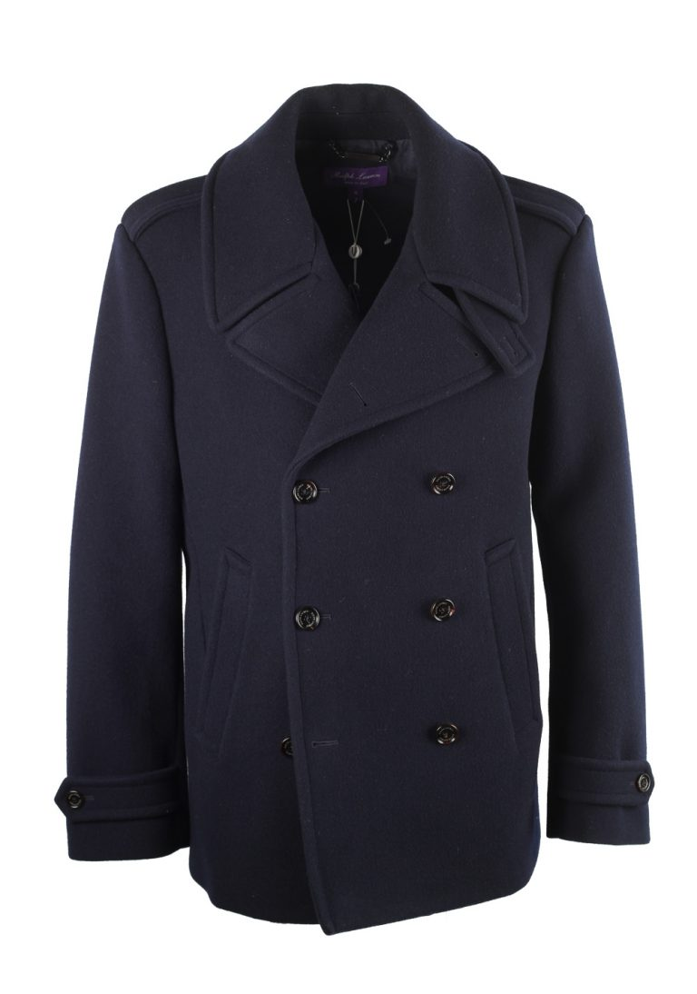 Ralph Lauren Purple Label Warrington Wool Peacoat Size XL / 54 / 44 U.S. - thumbnail | Costume Limité