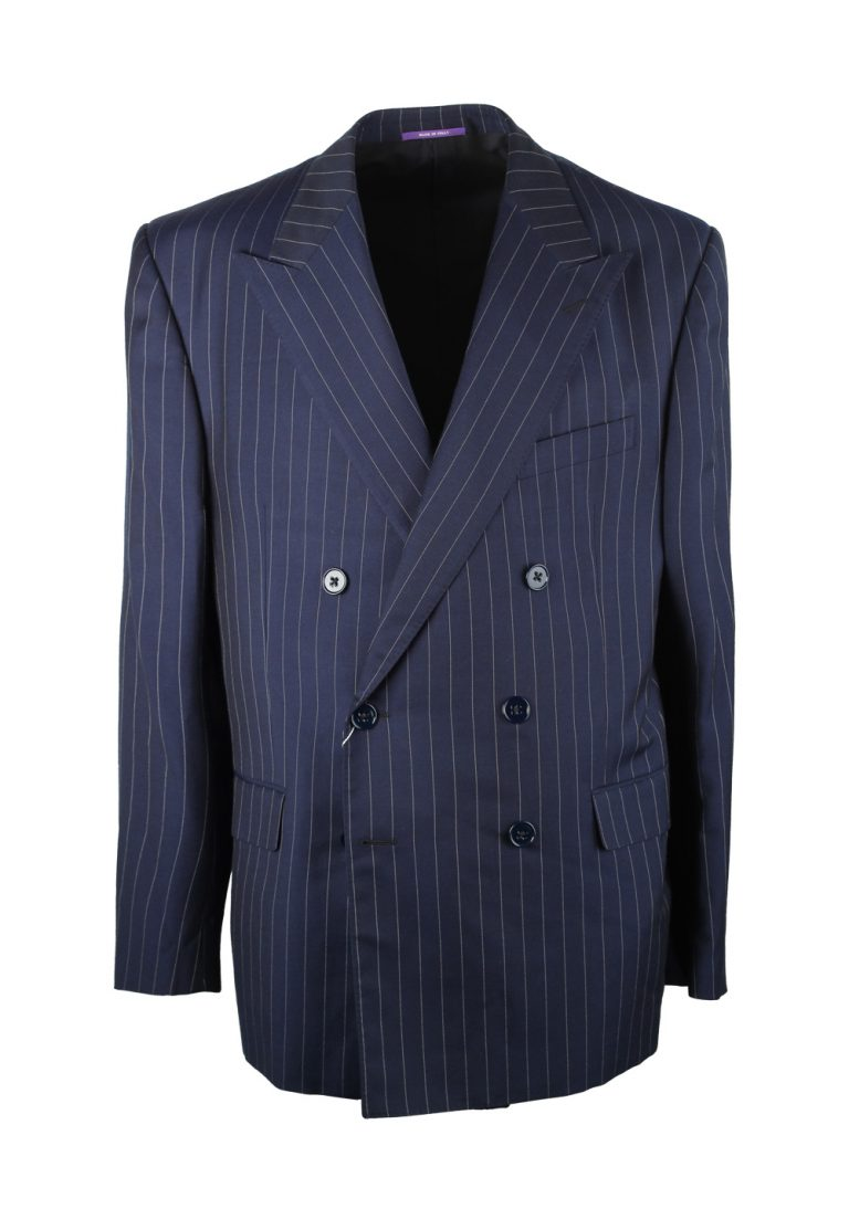 Ralph Lauren Purple Label Double Breasted Suit Size 56 / 46R U.S. In Wool - thumbnail | Costume Limité