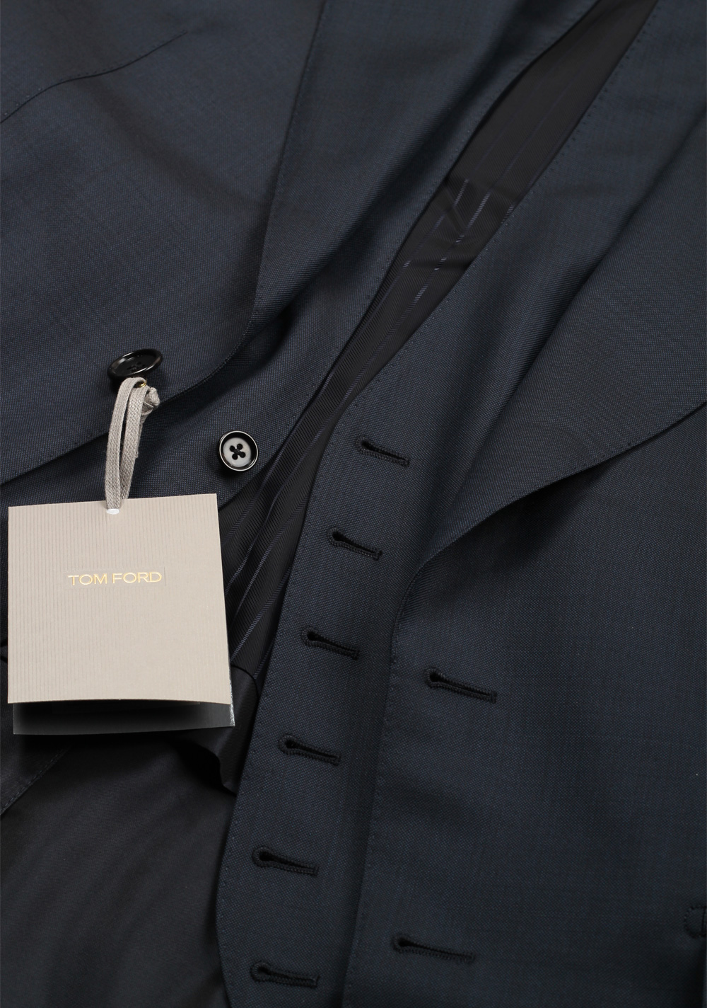 TOM FORD Shelton Blue 3 Piece Suit Size 46C / 36S U.S. | Costume Limité
