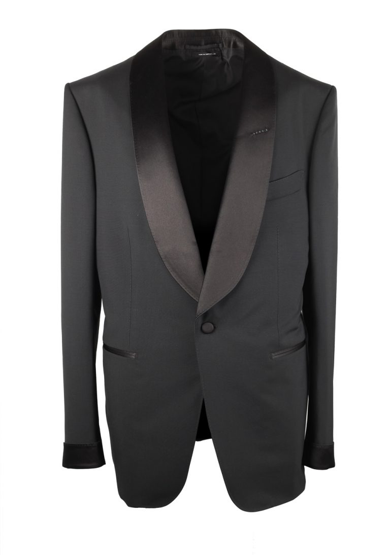 TOM FORD Shelton Black Tuxedo Suit Size 52 / 42R U.S. Shawl Collar - thumbnail | Costume Limité