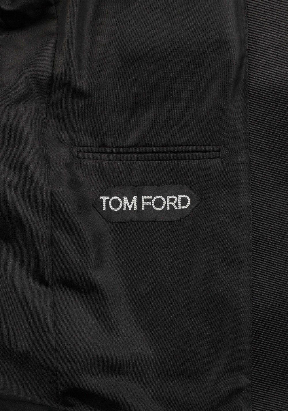 TOM FORD Windsor Black Tuxedo Suit Smoking Size 48 / 38R U.S. Fit A | Costume Limité