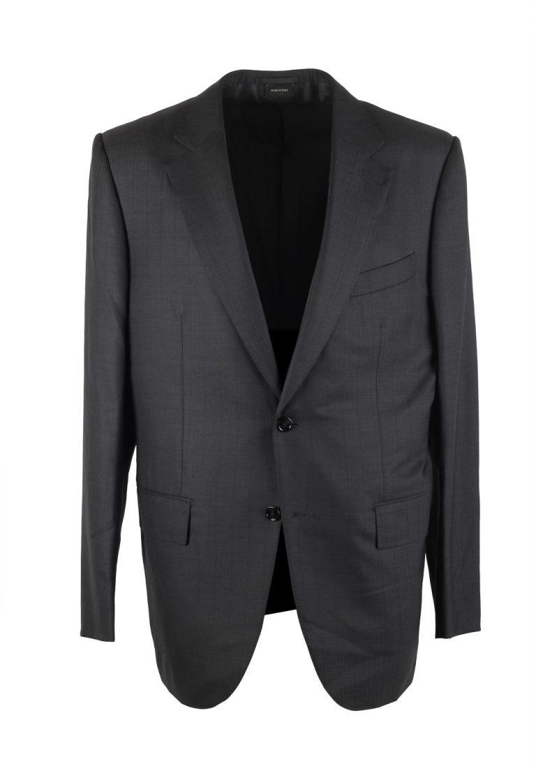 Ermenegildo Zegna Premium Couture Gray Striped Suit Size 54 / 44R U.S. - thumbnail | Costume Limité