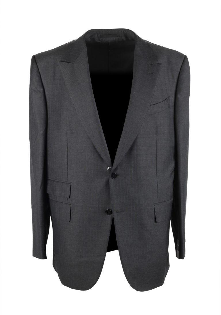 Ermenegildo Zegna Manhattan Gray Striped Suit Size 58 / 48R U.S. - thumbnail | Costume Limité