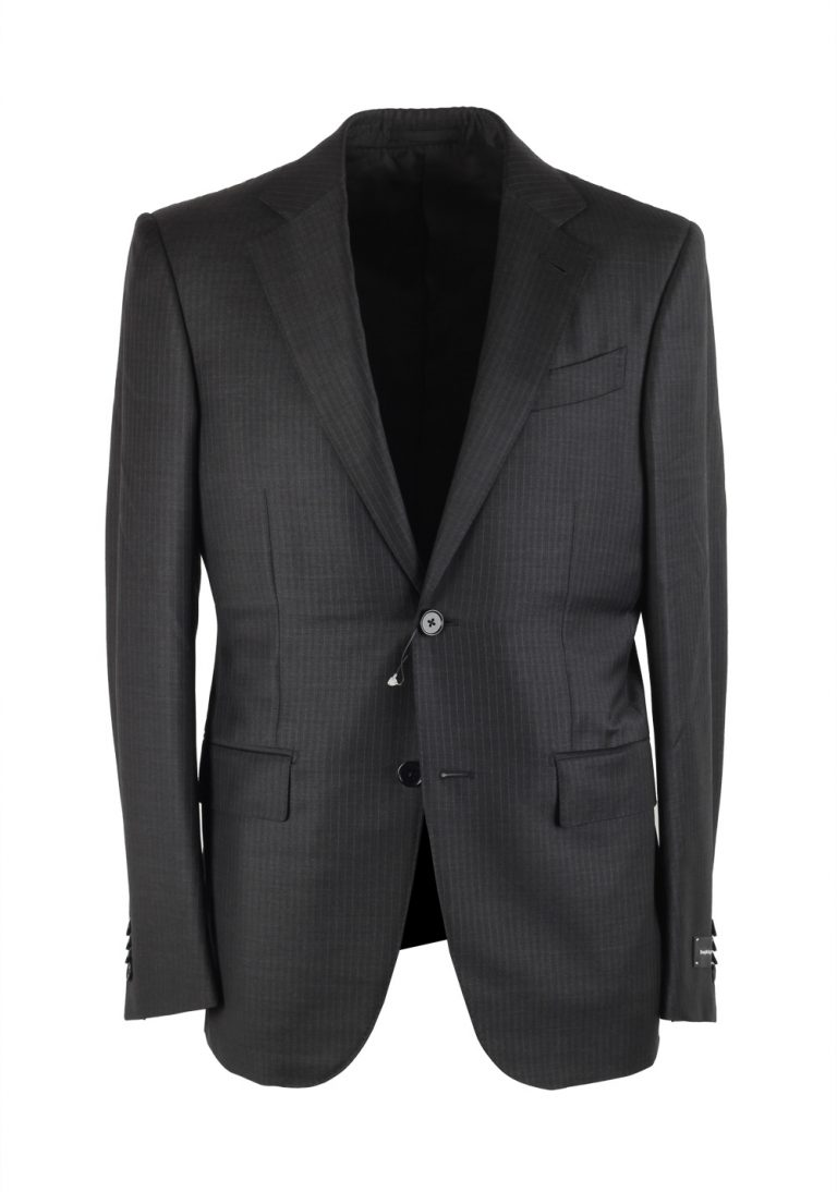 Ermenegildo Zegna Mila Gray Striped Suit - thumbnail | Costume Limité