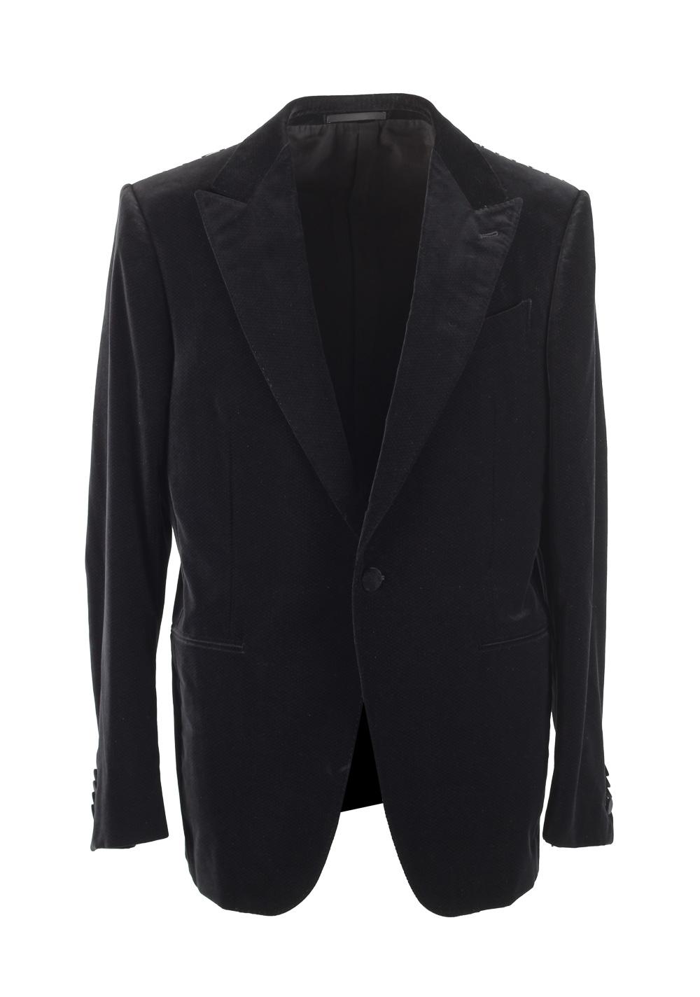 Ermenegildo Zegna Mila Black Dinner Jacket Size 52 / 42R U.S. | Costume Limité