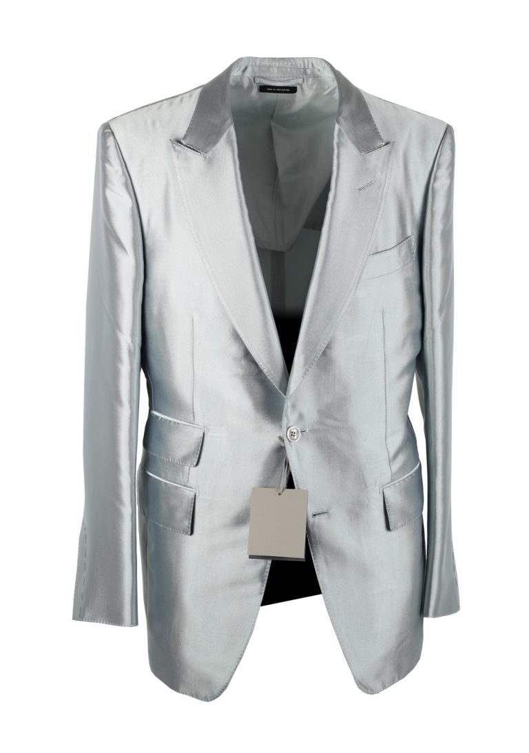 TOM FORD Fall Atticus Silver Silk Suit - thumbnail | Costume Limité