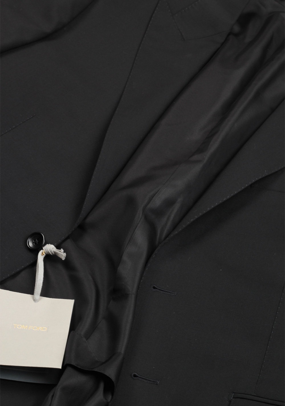 TOM FORD O'Connor Black Suit Size 56 / 46R U.S. Wool Fit Y | Costume Limité