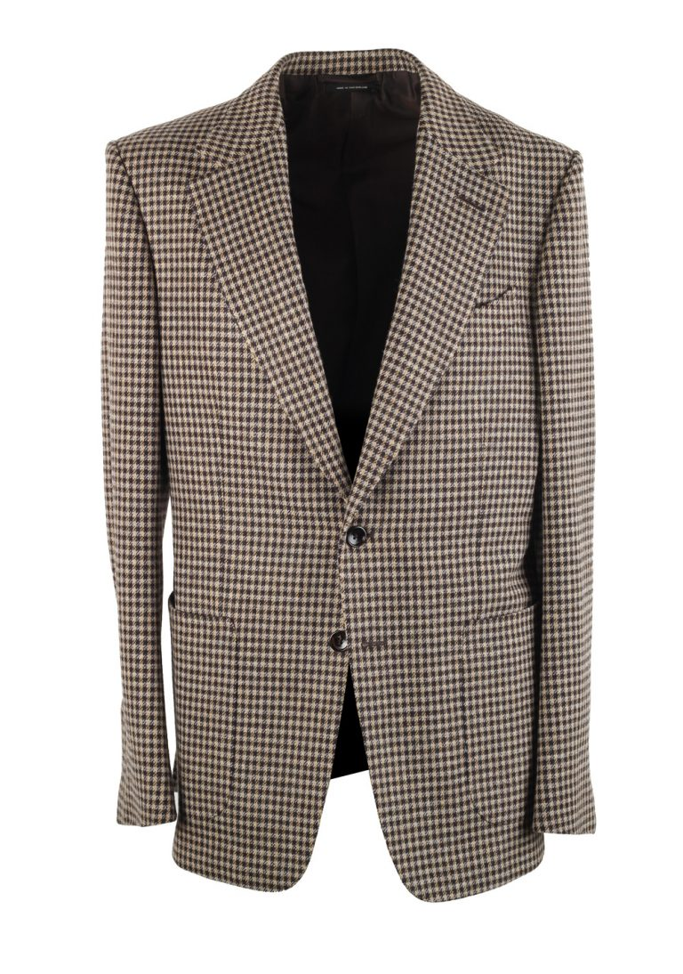 TOM FORD Shelton Checked Brownish Gray Sport Coat - thumbnail | Costume Limité