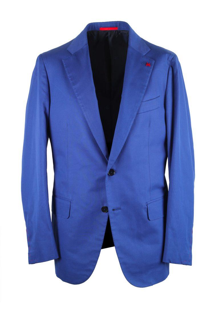 Isaia Napoli Solid Blue Suit Base Amalfi - thumbnail | Costume Limité