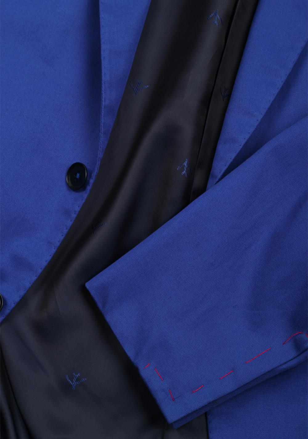 Isaia Napoli Solid Blue Suit Base Amalfi | Costume Limité