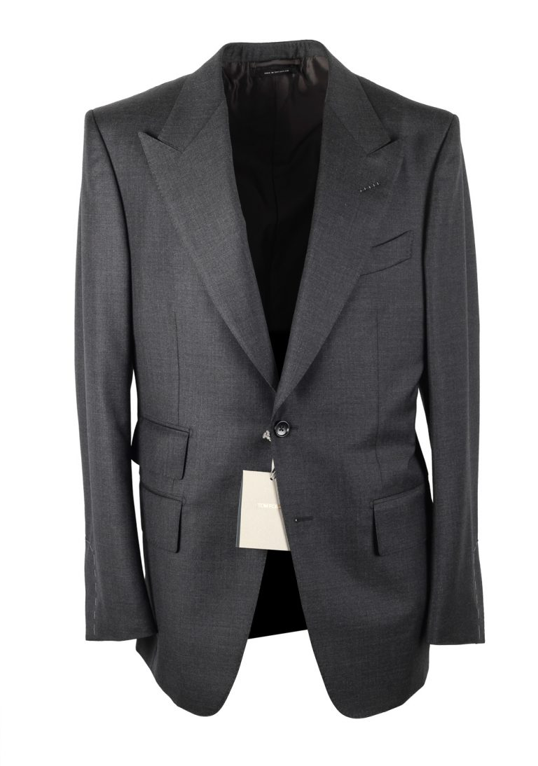 TOM FORD Windsor Signature Solid Gray Suit - thumbnail | Costume Limité