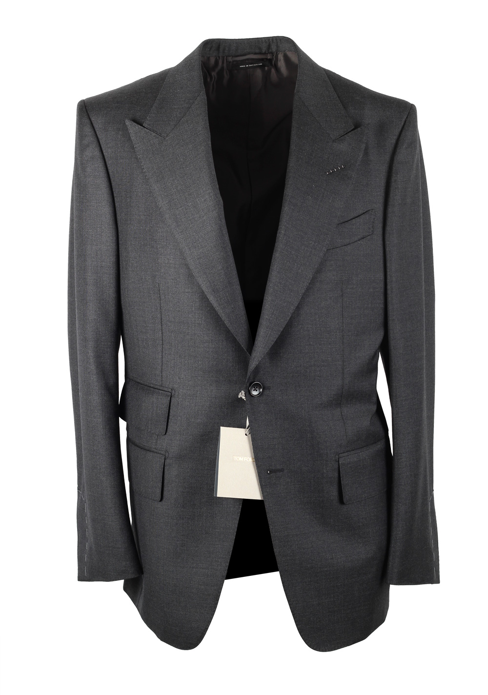 TOM FORD Windsor Signature Solid Gray Suit | Costume Limité