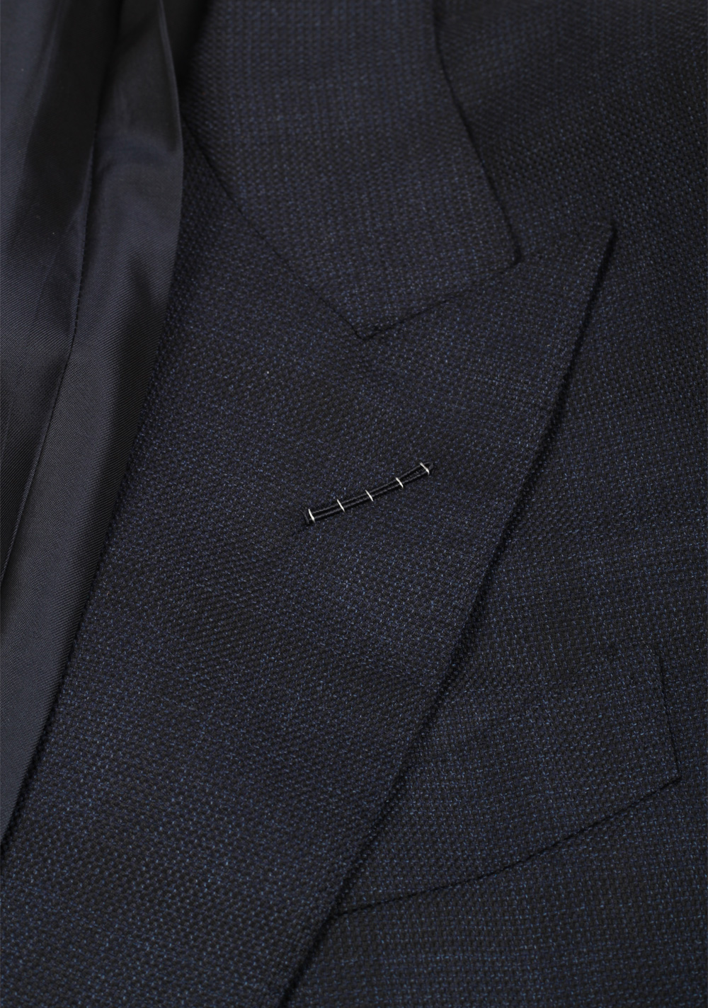 TOM FORD Shelton Checked Blue Suit Size 48 / 38R U.S. In Wool Silk | Costume Limité