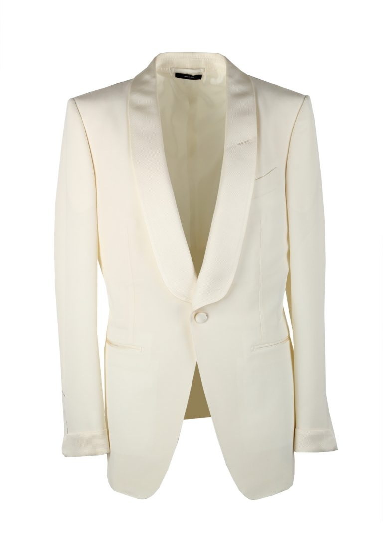 TOM FORD O'Connor  Ivory Tuxedo Dinner Jacket Size 48 / 38R U.S. Fit Y - thumbnail | Costume Limité
