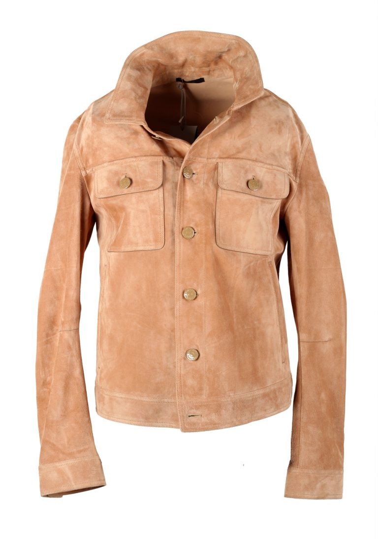 TOM FORD Beige Cashmere Suede Western Jacket Size 48 / 38R U.S. Outerwear - thumbnail | Costume Limité