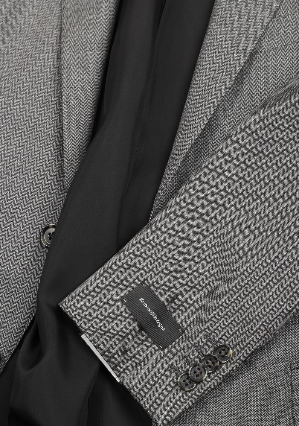 Ermenegildo Zegna Mila Gray Suit Size 46 / 36R U.S. | Costume Limité