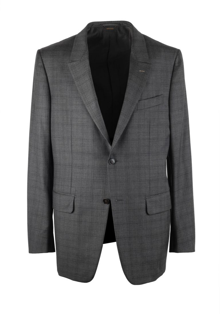 Ermenegildo Zegna Couture Checked Gray Sport Coat Size 52 / 42R U.S. - thumbnail | Costume Limité