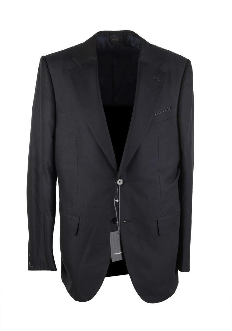 Ermenegildo Zegna Premium Couture Black Sport Coat Size 50 / 40R U.S. In Silk - thumbnail | Costume Limité
