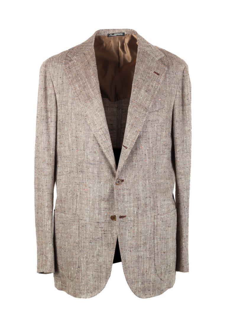 Orazio Luciano Beige Sport Coat Size 50L / 40L U.S. In Linen Silk - thumbnail | Costume Limité