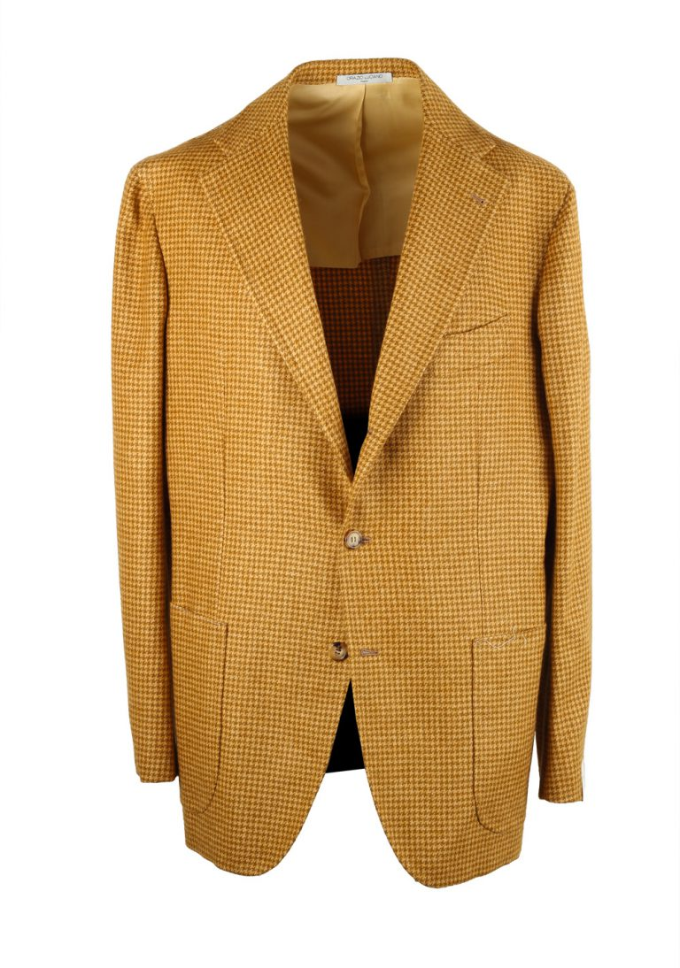 Orazio Luciano Mustard Houndstooth Sport Coat - thumbnail | Costume Limité