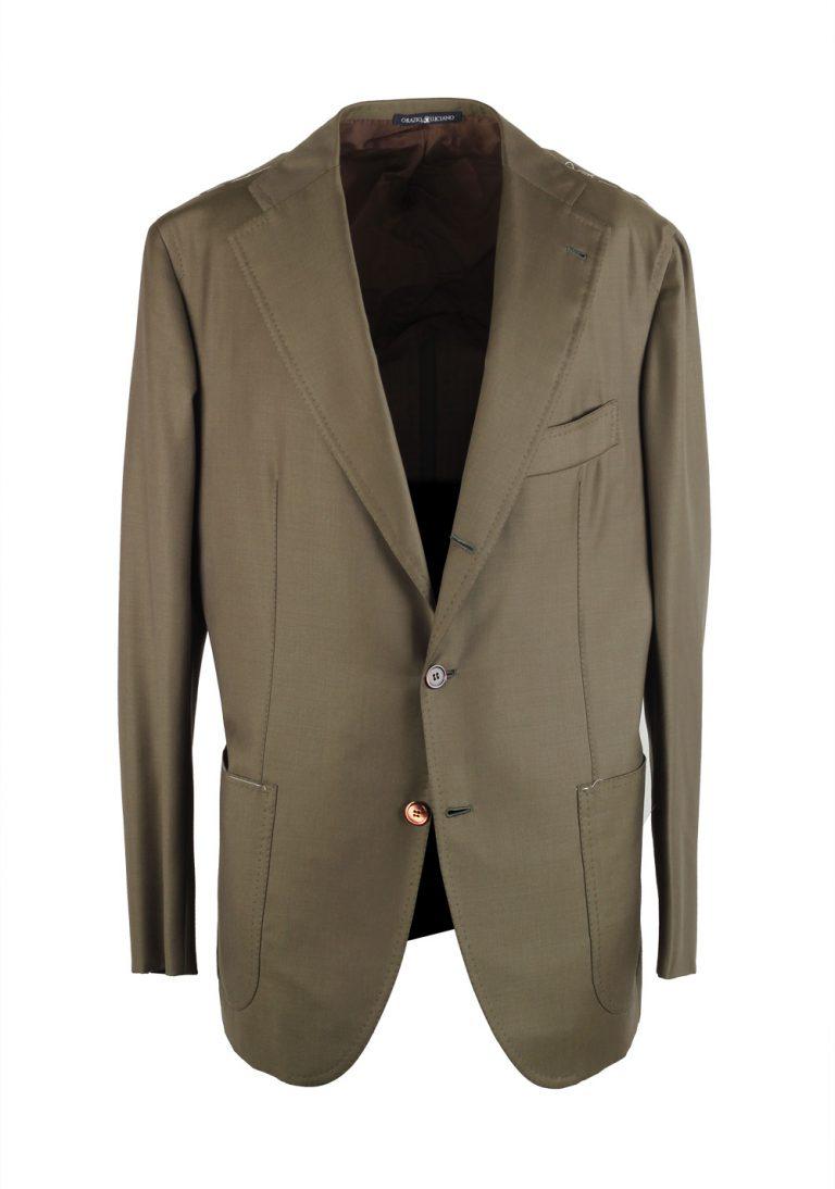 Orazio Luciano La Vera Sartoria Napoletana Olive Green Suit Size 52 / 42R U.S. - thumbnail | Costume Limité