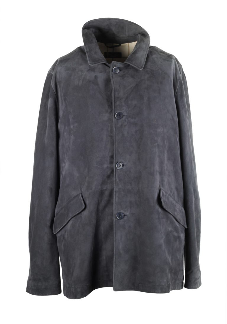 Loro Piana Gray Goat Leather Suede Coat - thumbnail   Costume Limité