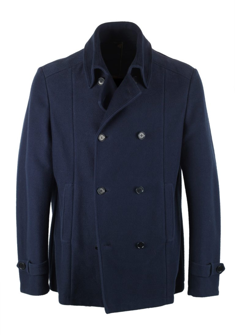 Loro Piana Blue Pea Coat Size XL Extra Large Outerwear - thumbnail | Costume Limité
