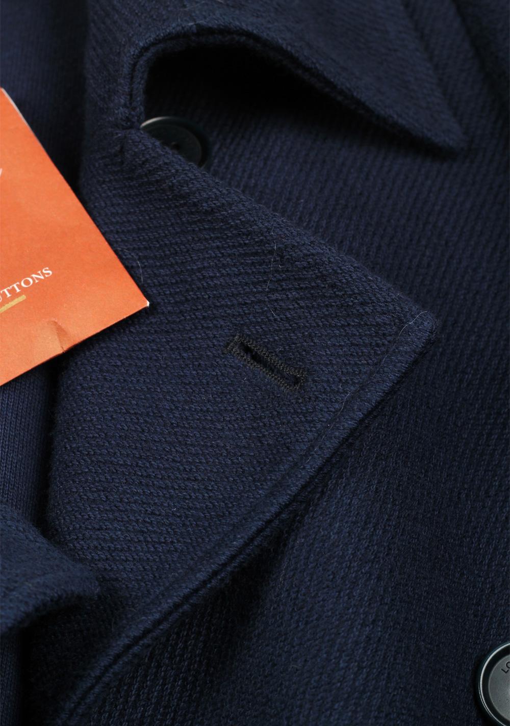 Loro Piana Blue Pea Coat Size XL Extra Large Outerwear | Costume Limité