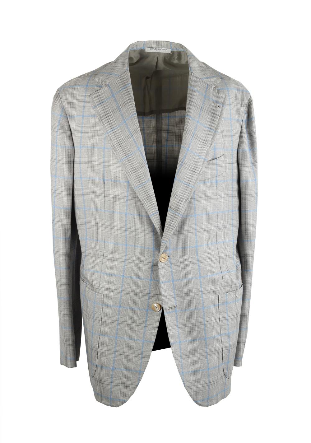 Orazio Luciano La Vera Gray Sport Coat Size 52 / 42R U.S.   Costume Limité