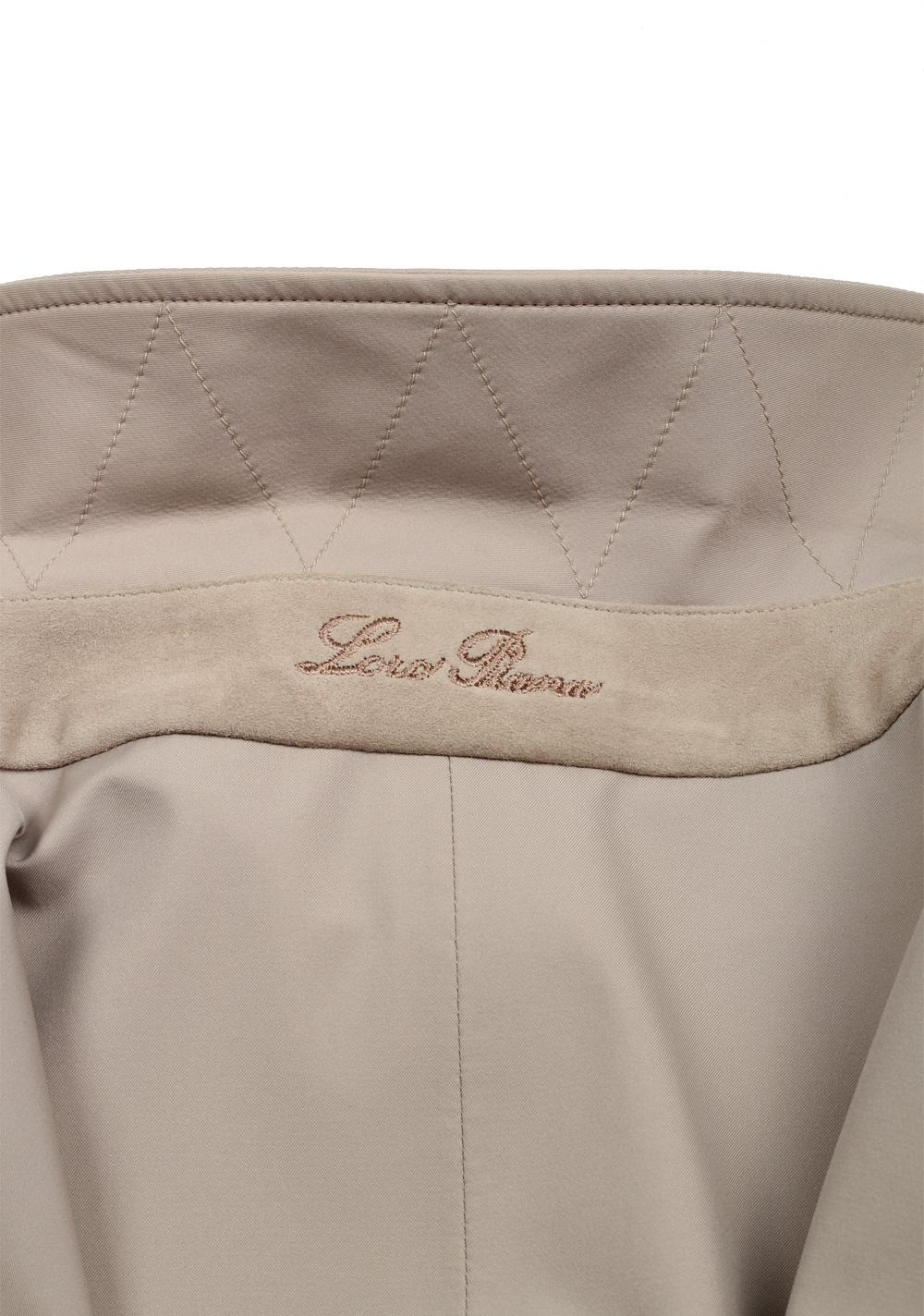 Loro Piana Beige Delaware Rain Coat Size Xxl Outerwear   Costume Limité