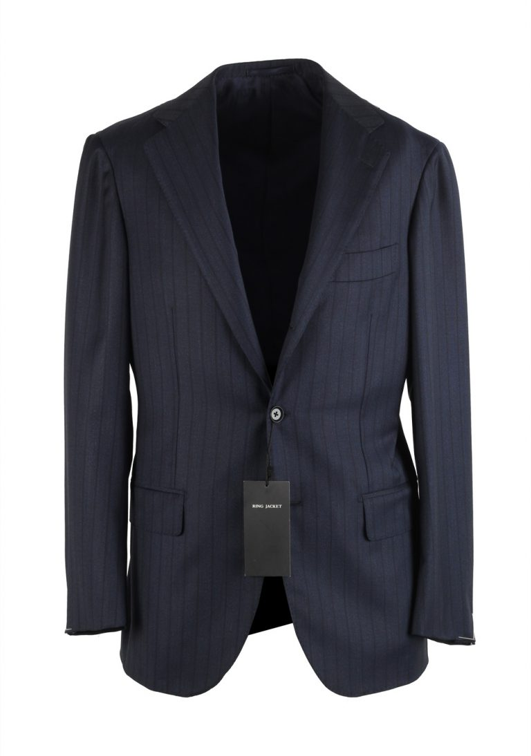 Ring Jacket Blue Striped Suit Size 44 / 34R U.S. - thumbnail | Costume Limité