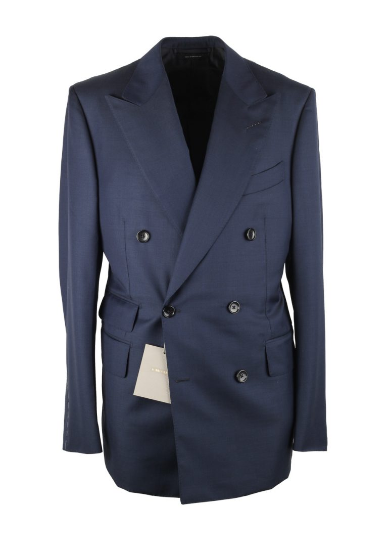 TOM FORD Shelton Solid Blue Double Breasted Suit - thumbnail | Costume Limité