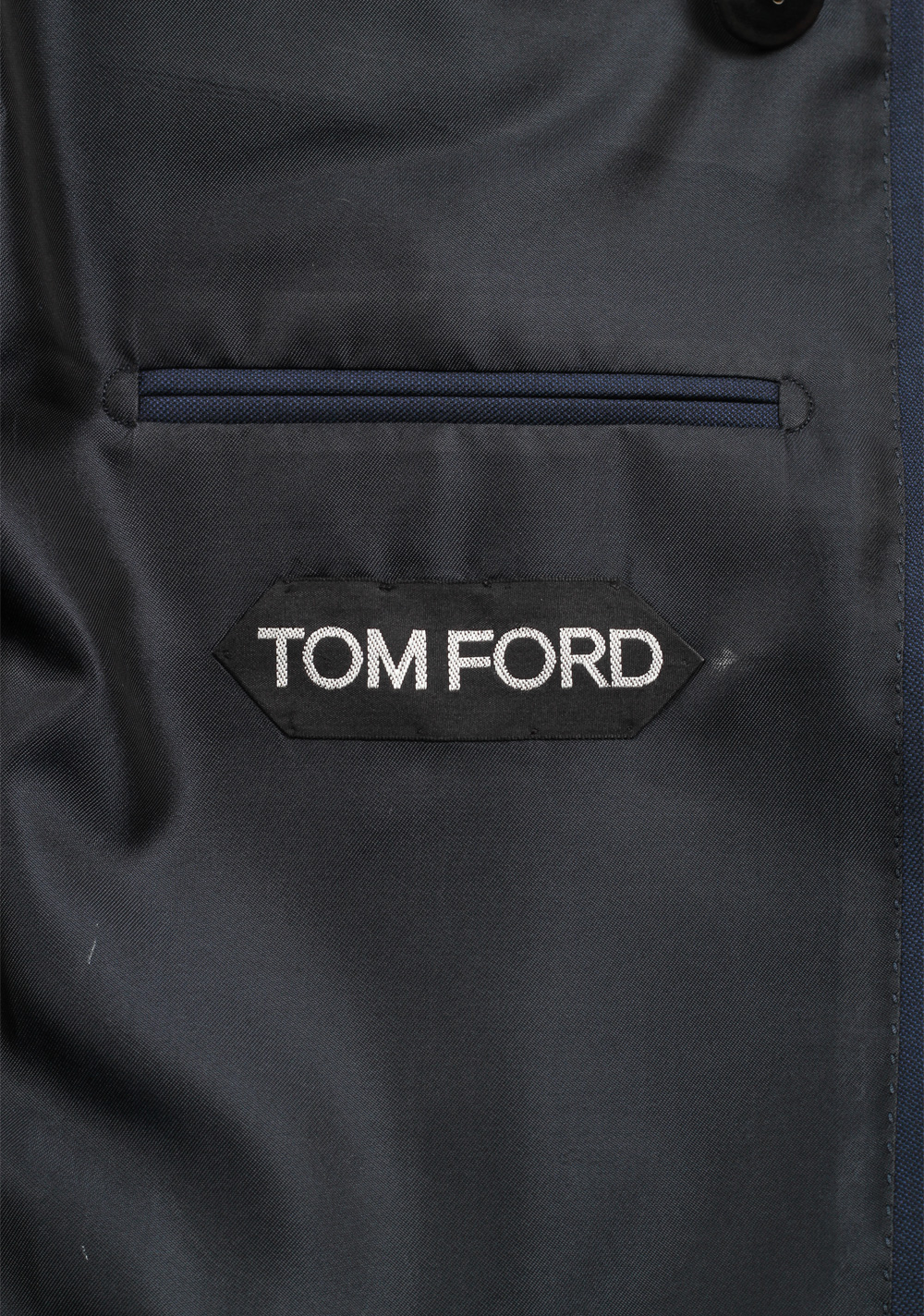 TOM FORD Shelton Solid Blue Double Breasted Suit   Costume Limité